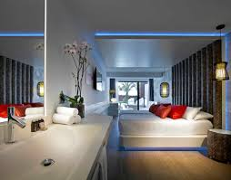 fantastic interior room design with white wall paint color also