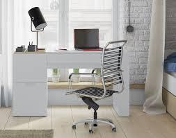 bureau moderne blanc bureau blanc ado bureau modulable 140 cm avec caisson bureau ado