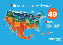 Frontier Airlines Route Map by Frontier Adding Flights From Mia To 9 Cities U2014 From As Low As 34