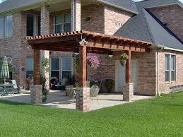 Texas Custom Patios Pergola With Brick Base Columns In Katy Grand Lakes By Texas