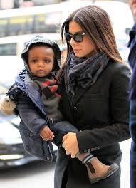 sandra bullock son sandra bullock s five year old son louis urged actress to find