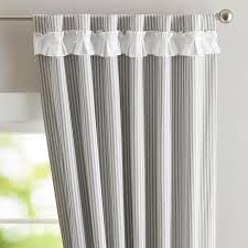 Striped Blackout Curtains Alston Grey And White Slate Curtain Panels