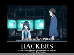 Meme Monitor - hackers anime meme com