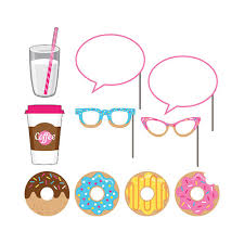 photo booth supplies bulk donut time party supplies donut time photo booth props 60cs