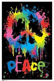 peace sign blacklight wall poster cool designs prints