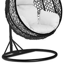 Rattan Hammock Chair Rattan Hanging Swing Chair With Cushion Wicker Beach Garden