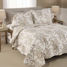 Quilted Cotton Coverlet Laura Ashley Home Bedford Cotton Reversible Quilt Set By Laura