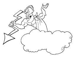 coloring page zeus thunderbolt color online coloringcrew 768890