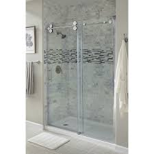 frosted shower doors seaside home coastal home bathroom glass
