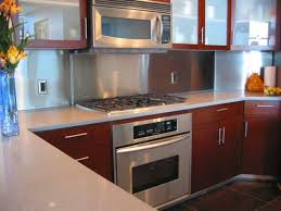 charming design stainless steel backsplash behind stove 20
