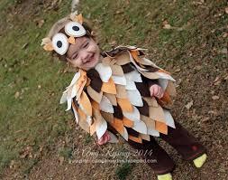 owl costume prairie paper ink no sew baby owl costume