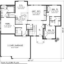 e plans house plans houseplans com ranch main floor plan plan 70 1116 house plans