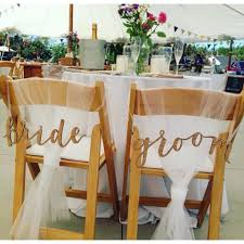 and groom chair signs bhldn and groom chair signs reception decoration