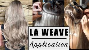 la weave hair extensions la weave application