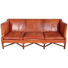 Antique Leather Sofas Kaare Klint Three Seat Leather Sofa For Sale At 1stdibs