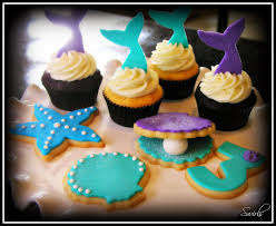 mermaid cupcakes swirls cupcakes mermaid cupcakes and cookies