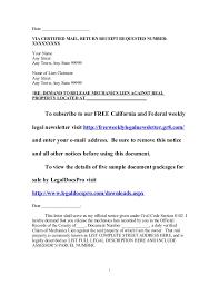 sample california mechanics lien release demand lettersample