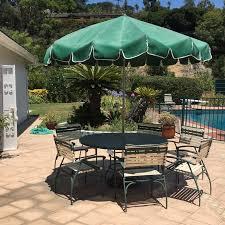 Umbrella Patio Sets Vintage Finkel Patio Table And Chair Set With Umbrella Ebth