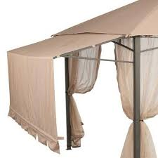 Gazebo With Awning Garden House Gazebo Replacement Canopy And Net Riplock 350