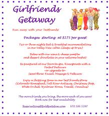 Getaway Packages 2018 Girlfriends Getaway Package Baldpate