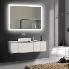 Lighted Mirror Bathroom Bathroom Vanity Chrome Bathroom Mirror Big Mirrors Framed