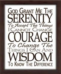 serenity prayer brown framed canvas