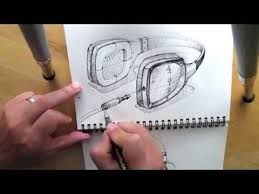 how to draw headphone product design sketching youtube
