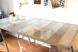 wood desk with glass top wood desk with glass top round computer desk glass top reception