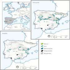 Iberian Peninsula Map Forecast Location Of Lynx Populations In The Iberian Peninsula In