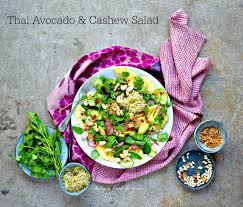 fragrant thai avocado u0026 cashew salad food to glow