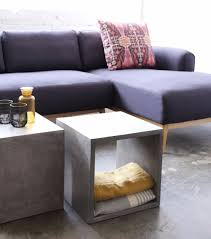 Ottoman With Shelf by Furniture Maison Shop Vega Concrete Cube With Shelf