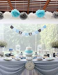 baby shower boy themes birthday boy decorations baby blue white grey baby boy