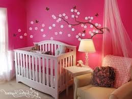 Bathroom Ideas For Girls by Luxury Baby Room Design Idea With Blue Wallpaper White Crib