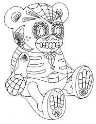 coloring pages sugar skull outline mexican sugar skull outline