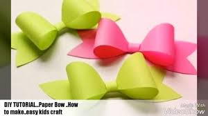 3 easy steps to make paper bow how to make manishacraftsideas