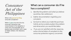 consumer rights pertinent philippine laws