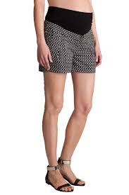 maternity shorts seraphine marietta bow print cotton maternity shorts maternity