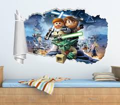 lego star wars wall decals ebay lego star wars 3d torn hole ripped wall sticker decal home decor art mural wt313