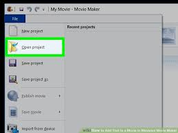 how to add text to a movie in windows movie maker with pictures