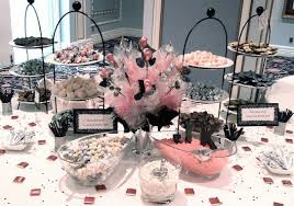 Pink And Black Candy Buffet by Black And Pink Themed Musical Note Candy Buffet Candy Buffet