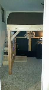 king loft pallet bed with stairs u2022 1001 pallets