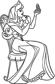 aurora makeup cartoon coloring wecoloringpage