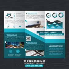 free tri fold business brochure templates blue stylish business trifold brochure template vector free