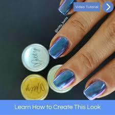 how to apply chrome powder u2013 mitty nail art tools u0026 brushes