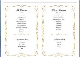 printable wedding programs templates best photos of free printable wedding program templates word