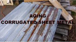 aging corrugated steel youtube