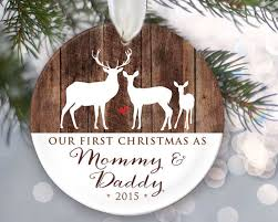 personalized christmas gifts engraved christmas ornament our first christmas as mommy daddy