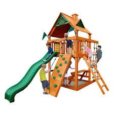 Big Backyard Savannah Playhouse by Wood Kids Playhouses Playsets U0026 Swing Sets The Home Depot