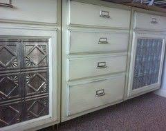alternatives to glass front cabinets 11 great alternatives to glass front cabinets faux pressed tin