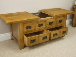 Coffee Tables With Shelves Rustic Storage Coffee Table With Sliding Dans Design Magz